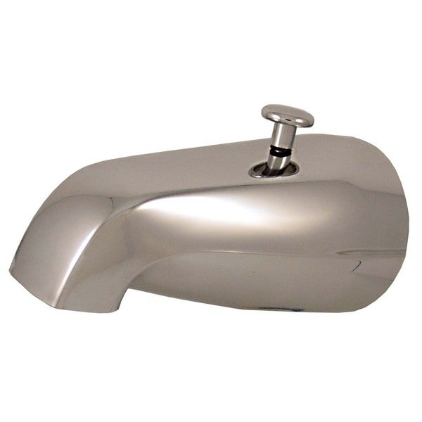 "Plumb Craft Waxman 7657200P 2.8"" L X 5.4"" W X 9"" H Chrome Diverter Tub Spout With Outlet"