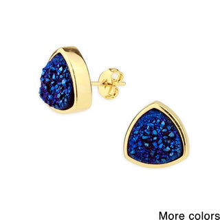 Saachi Pyramid Druzy Stud Earrings (China)
