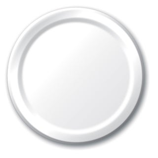 "Creative Converting 47000B 8.75"" White Dinner Plates 24 Count"