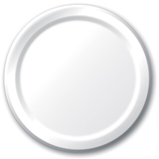 "Creative Converting 79000B 6.75"" White Lunch Paper Plates 24 Count"