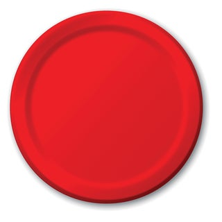"Creative Converting 791031B 7"" Classic Red Lunch Plate 24 Count"