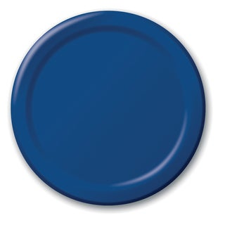 "Creative Converting 791137B 6.75"" Navy Lunch Plates 24 Count"