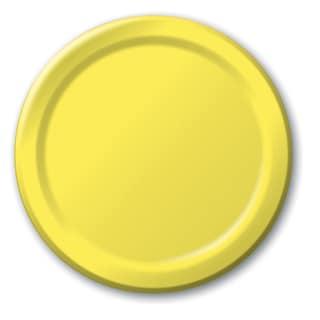 "Creative Converting 471021B 8.75"" School Bus Yellow Dinner Plates 24 Count"
