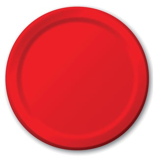 """Creative Converting 471031B 8.75"""" Classic Red Dinner Plates 24 Count"""