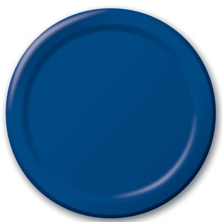 "Creative Converting 471137B 8.75"" Navy Dinner Plates 24 Count"