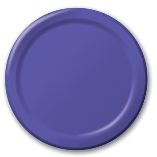 "Creative Converting 47115B 8.75"" Purple Dinner Plates 24 Count"