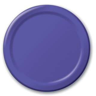 "Creative Converting 47115B 8.75"" Purple Dinner Plates 24 Count"