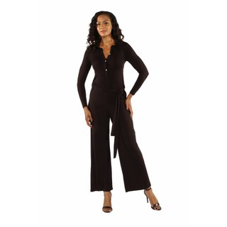 24/7 Comfort Apparel Women's Elegant Silky Soft Jumpsuit