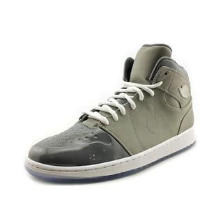 Jordan Men's 1 Retro '95 Grey Nubuck Suede Athletic Shoes