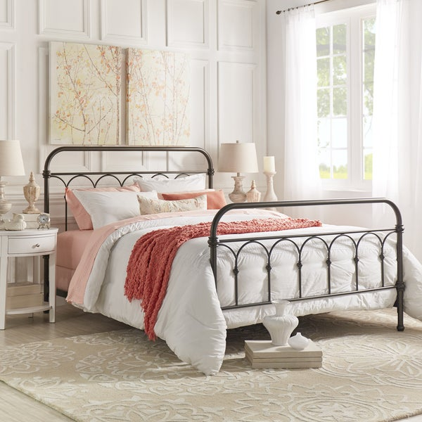 mercer casted knot metal bed by tribecca home free shipping today