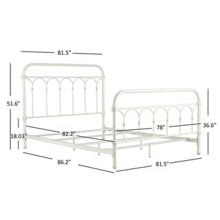 TRIBECCA HOME Mercer Casted Knot King-sized Metal Bed