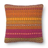 Woven Cotton Orange/ Pink Bohemian 18-inch Throw Pillow or Pillow Cover