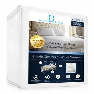 Home Fashion Designs Hypoallergenic Waterproof Mattress Encasement - White