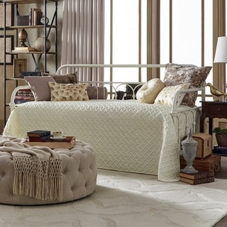 TRIBECCA HOME Mercer Casted Knot Metal Daybed