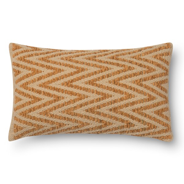 Woven Chevron Feather and Down Filled or Polyester Filled 12 x 22 Throw Pillow or Pillow Cover