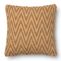 Woven Chevron Feather and Down Filled or Polyester Filled 18-inch Throw Pillow or Pillow Cover