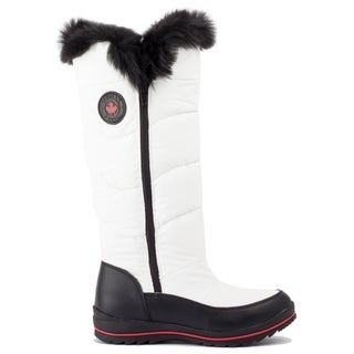 Cougar Women's White and Black Nylon Bistro Boot