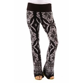 24/7 Comfort Apparel Women's Stunning Made Simple Print Boot Cut Pants