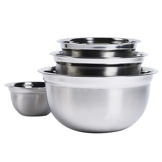Stainless Steel Mixing Bowl Set (Pack of 4)