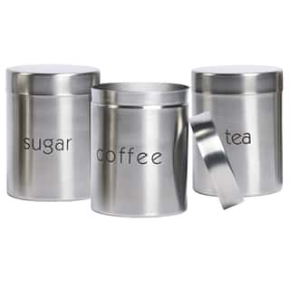 Stainless Steel 3 Piece Canister Set