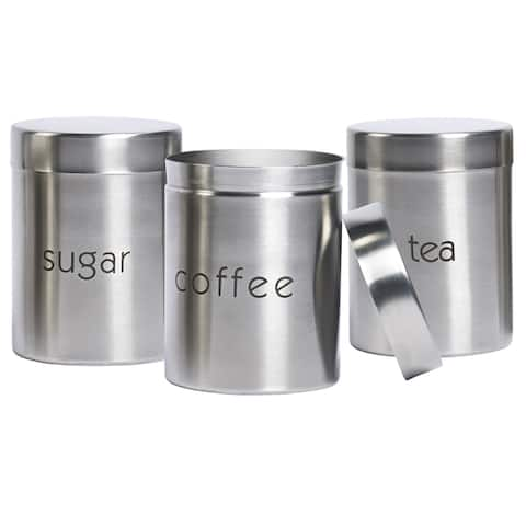 Stainless Steel 3-Piece Canister Set