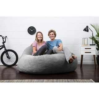 FufSack Big Joe Lux Chillum Polyester Textured Memory Foam Bean Bag Loveseat