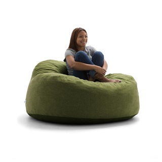 FufSack Big Joe Lux Chillum Solid-colored Polyester Memory Foam Bean Bag Loveseat