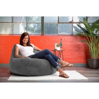 FufSack Big Joe Lux Chillum Textured Memory Foam Bean Bag Chair