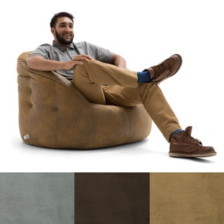 BeanSack Big Joe Lux Large Milano Microsuede Bean Bag Chair