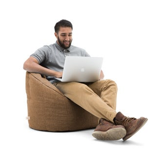 BeanSack Big Joe Lux Milano Solid-colored Polyester Bean Bag Chair