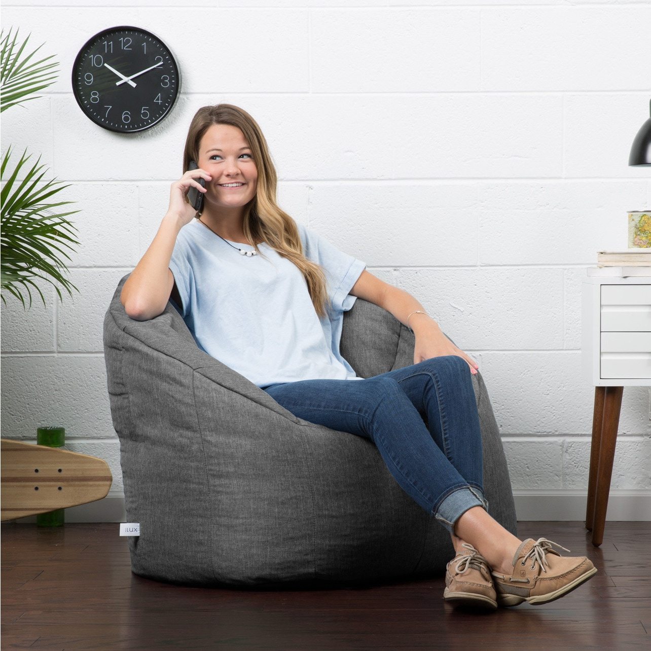 Big Joe Lux Union Milano Bean Bag Chair Multiple Colors