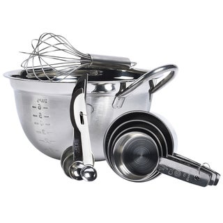 Silver-tone Stainless Steel 10-piece Mix and Store Set