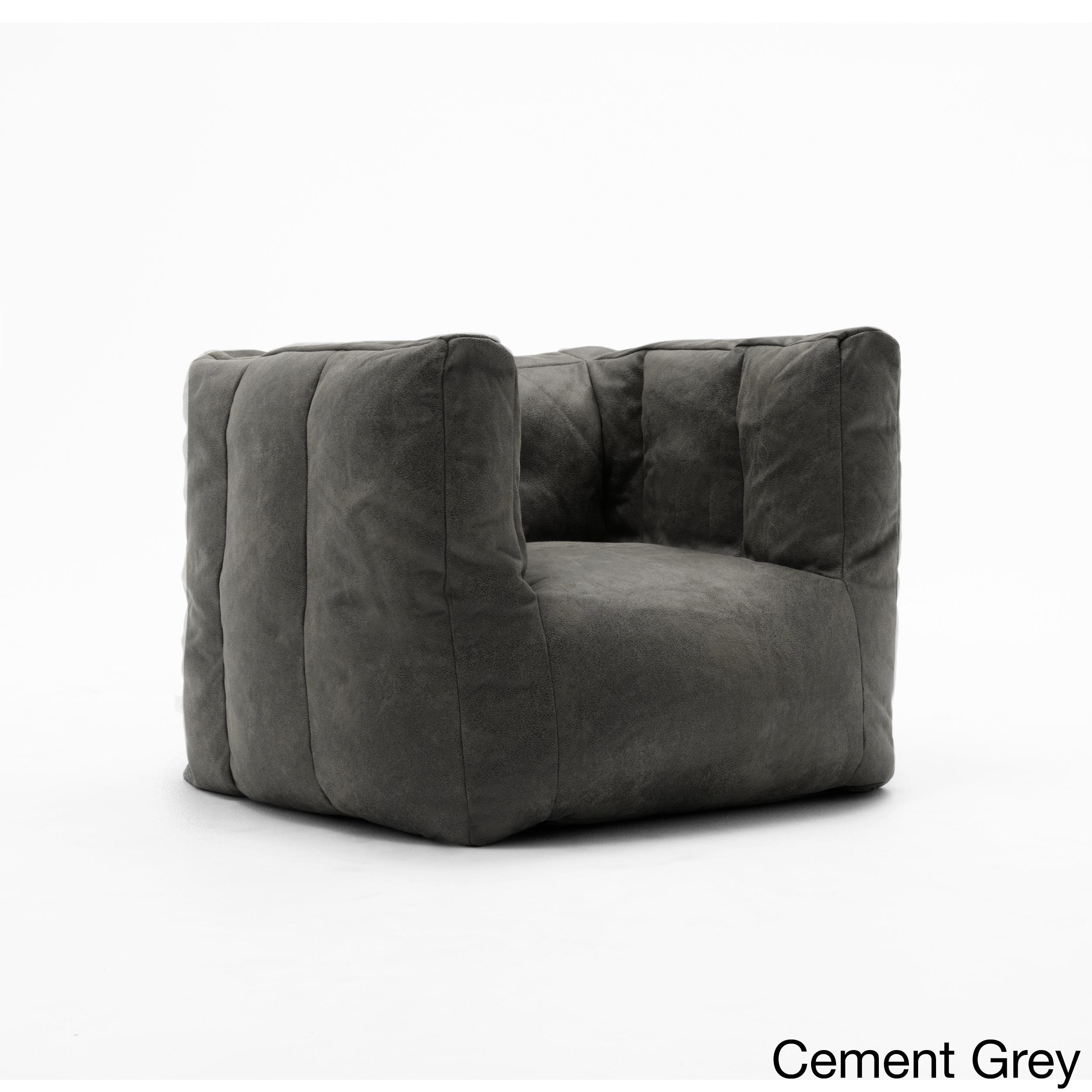 BeanSack Big Joe Lux Microsuede Square Bean Bag Chair (Ce...
