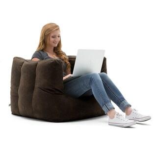 BeanSack Big Joe Lux Microsuede Square Bean Bag Chair