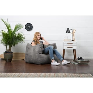 BeanSack Big Joe Lux Microsuede Square Bean Bag Chair