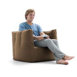 BeanSack Big Joe Lux Linen Square Bean Bag Chair