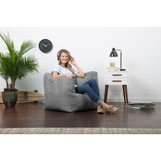 BeanSack Big Joe Lux Linen Square Bean Bag Chair