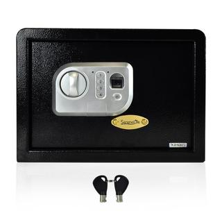 SereneLife SLSFE18FP Electronic Fingerprint Safe Box with Mechanical Override and Keys
