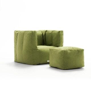 Big Joe Lux Cube & Ottoman Bean Bag Chair, Multiple Colors