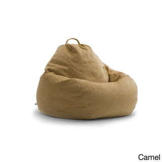 BeanSack Big Joe Lux Textured Polyester and Polystyrene Large Teardrop Bean Bag Chair