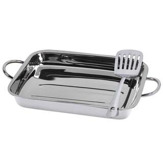 Silvertone Stainless Steel 2-piece Lasagna Set