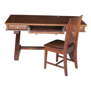 Espresso Parawood Executive Desk with Zosiac Base and Chair