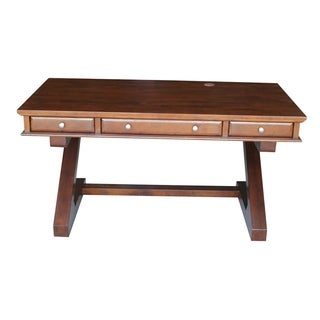 Espresso Parawood-frame Executive Desk With Zosiac Base