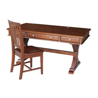 Espresso Parawood Executive Desk with Canyon Base and Chair