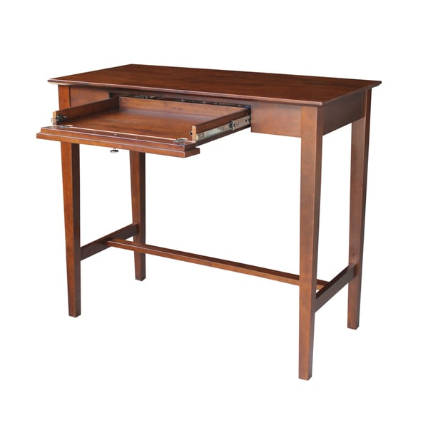 Brown Wood Standing Desk Free Shipping Today Overstock