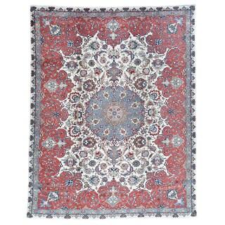 1800getarug Semi-antique Persian Tabriz Red Wool Handmade Oriental Area Rug (10' x 13')