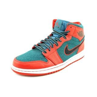 Jordan Men's 'Retro 1 Mid' Regular Suede Athletic Shoes