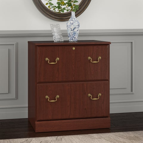 Bush Furniture Saratoga Lateral File Cabinet in Harvest Cherry