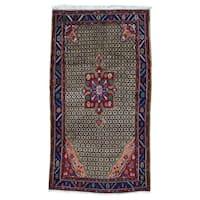 Shahbanu Rugs Hand-knotted Persian Hamadan Wide Runner Rug - 5' x 8'10