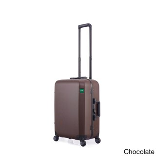 Lojel Rando Frame 22-inch Small Hardside Carry-on Upright Spinner Suitcase (Option: Chocolate)